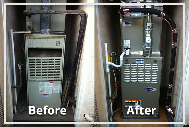 Heating Before & After